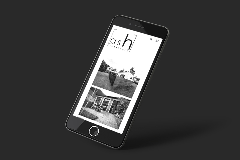 ash architectes site internet mobile